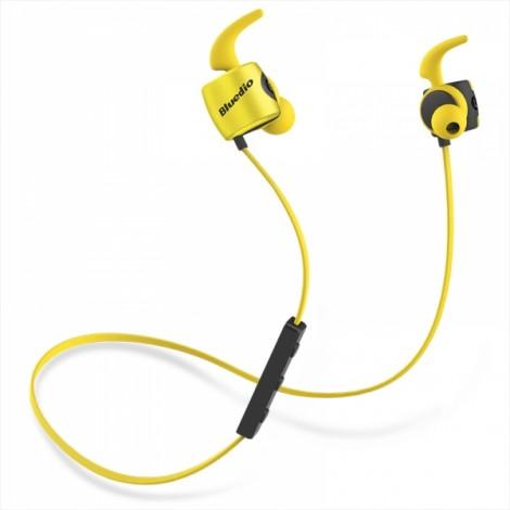 Bluedio TE Sport Sweat-resistant In-ear Wireless Bluetooth Earphone Headphone - Yellow