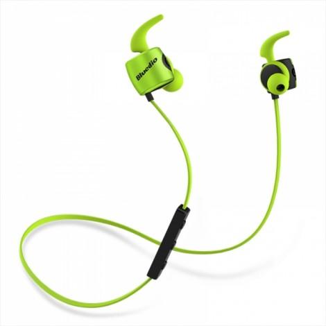 Bluedio TE Sport Sweat-resistant In-ear Wireless Bluetooth Earphone Headphone - Green
