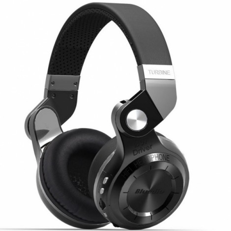 Bluedio T2 Plus Wireless Bluetooth V4.1 Stereo Headphones Headset Support TF Card FM Function - Black