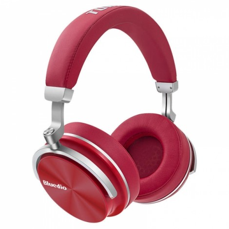 Bluedio T4 Active Noise Cancelling Wireless Bluetooth Headphones Headset - Red