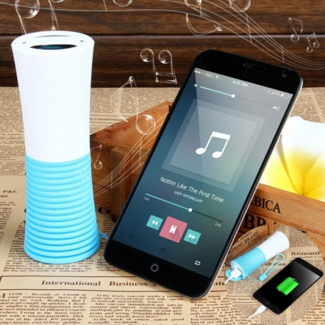 UHAPPY UT5 Waterproof Portable Bluetooth V3.0 Speaker w/ 4000mAh Power Bank / Microphone / Hands-Free - Blue