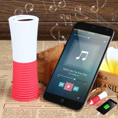 UHAPPY UT5 Waterproof Portable Bluetooth V3.0 Speaker w/ 4000mAh Power Bank / Microphone / Hands-Free - Red