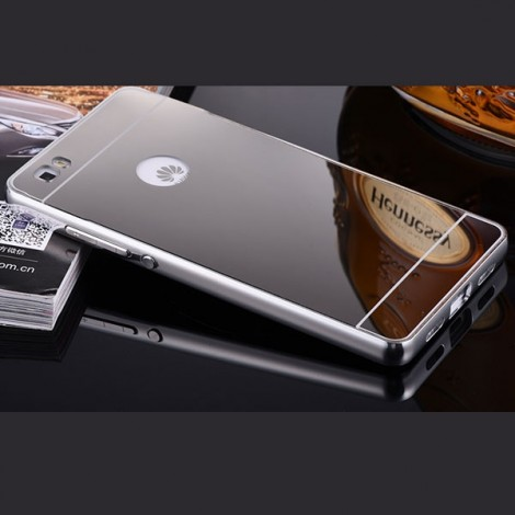 Aluminum Metal Protective Back Cover Case for Huawei P8 Silver