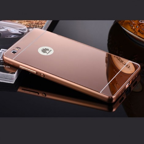 Aluminum Metal Protective Back Cover Case for Huawei P8 Rose Golden