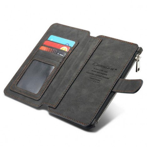 PU Leather Multi-functional Wallet Phone Case Back Cover for Samsung Galaxy Note 5 Black