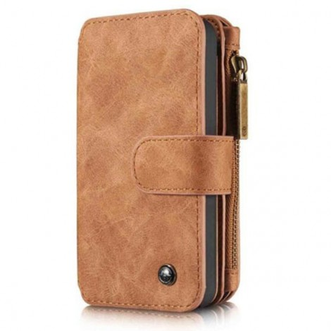 PU Leather Multi-functional Wallet Phone Case Back Cover for Samsung Galaxy S7 Brown
