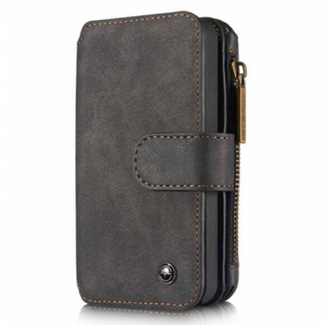 PU Leather Multi-functional Wallet Phone Case Back Cover for Samsung Galaxy S7 Edge Black