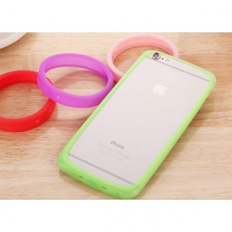 """Candy Color Round Universal Soft Bumper Case for Mobile Phone Above 6.0"""" Random Color"""