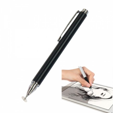 Mobile Phone Flat Panel Universal Touch Screen Capacitive Pen Stylus Pen Black