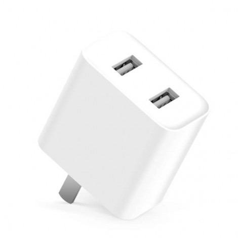 Xiaomi Quick Charge 3.0 Dual USB Charger Power Adapter for Xiaomi Samsung Huawei White