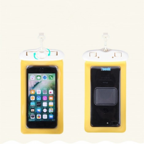 Tteoobl T-61H Multifunctional Sundries Waterproof Bag Large Volume Underwater Dry Pouch Case Yellow