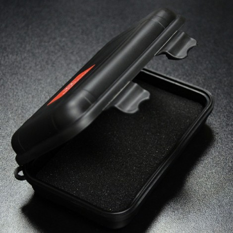 KZ Sponge Shock Absorption Portable Storage Square Bag Box Cover for Earphone Cable Charger Black
