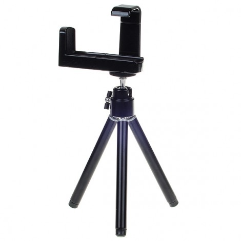 S2120W Mini Adjustable Alloy Tripod for Cell Phone Black