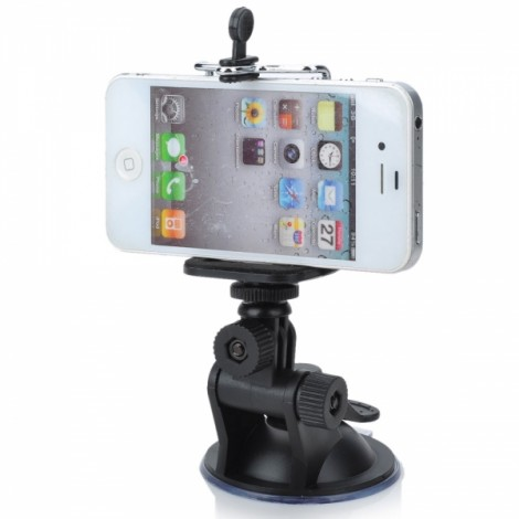Universal Large Car Mount Holder with Suction Cup for iPhone/Samsung/HTC/Digital Cameras Black
