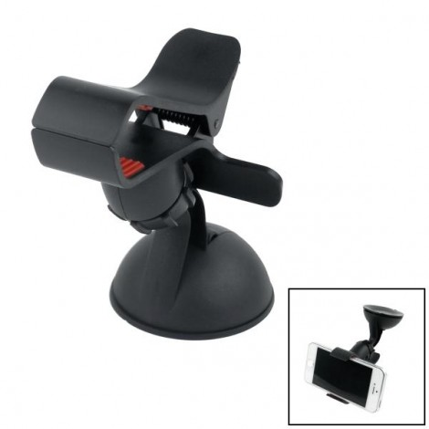 Universal 360 Degrees Rotatable Car Mount Holder with Suction Cup for Cellphone / GPS Black & Red