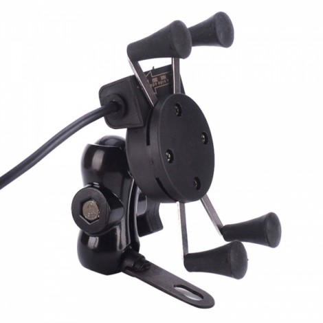 Universal Adjustable Cell Phone Holder Motorcycle Bicycle Mount Black