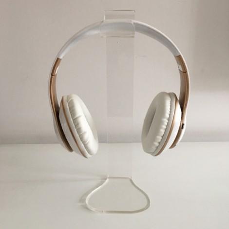 Universal Acrylic Headphone Stand Headset Holder Display Hanger Transparent