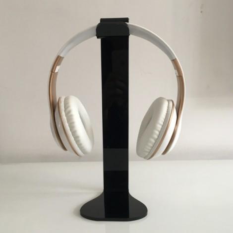Universal Acrylic Headphone Stand Headset Holder Display Hanger Black