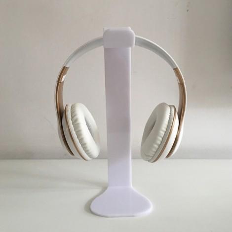 Universal Acrylic Headphone Stand Headset Holder Display Hanger White