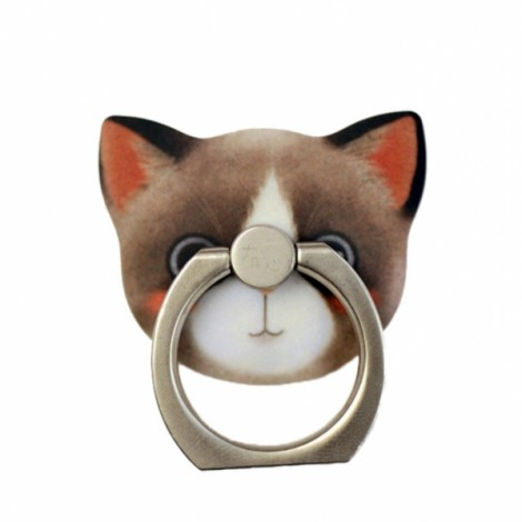 Cat Metal Mobile Phone Finger Ring Stand Mount Holder For iPhone Cell Phone 5 Dora