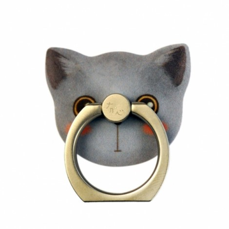 Cat Metal Mobile Phone Finger Ring Stand Mount Holder For iPhone Cell Phone 4 Erin