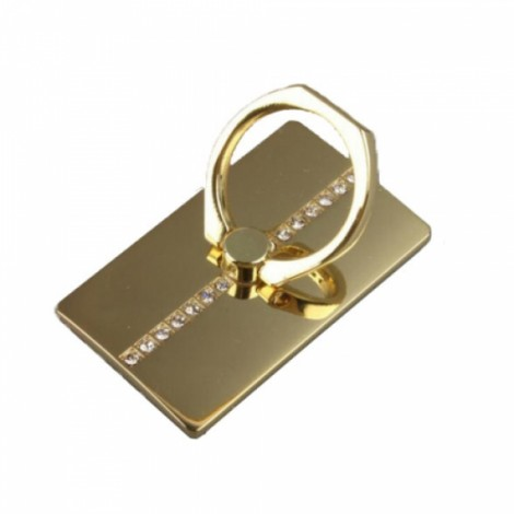 360 Degree Rotating Luxury Diamond Ring Tablet Mount Stand Holder Phone Accessory Universal for iPhone Motorola Samsung LG iPad Golden