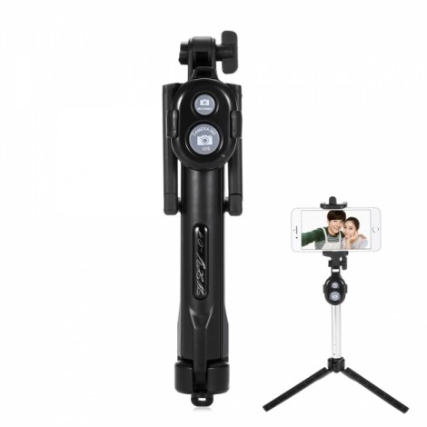 ST-11 Mobile Phone Universal Bluetooth 3.0 Self-timer with a Tripod Black
