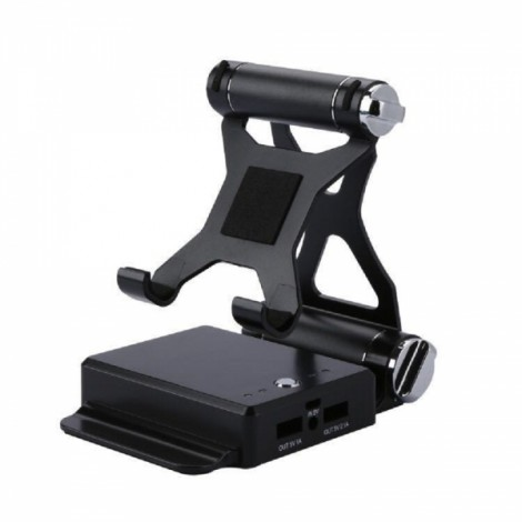 2 in 1 Mobile Phone Flat Lazy Bracket for Mobile Phone Pad Black