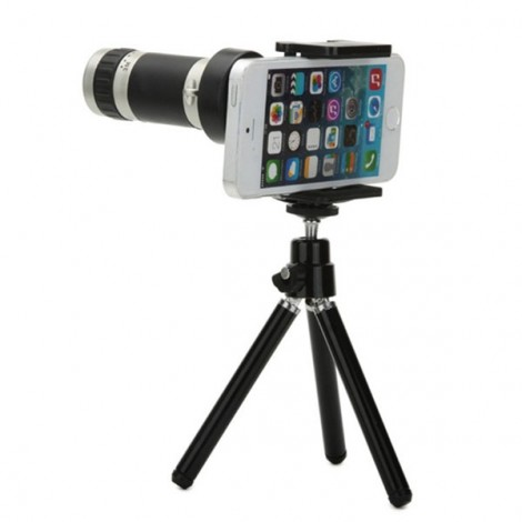 Universal 8X Zoom Optical Lens Adjustable Monocular Telescope with Tripod for Cellphones