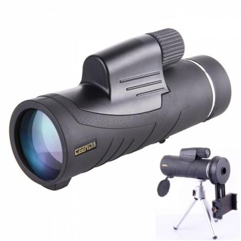 CEENDA 10X42 Monocular Handheld Telescope HD Optic Wide Angle Eyepiece Night Vision Lens with Tripod & Multi-purpose Phone Holder