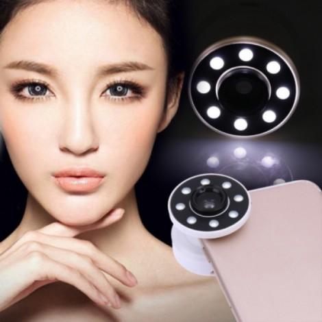 Mobile Lens Air Sac LED Phone Light Macro Wide Range Smoother Skin Selfie Light White