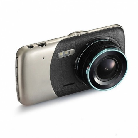 "1080P 3.7"" Mini Full HD WDR Dash Cam Night Vision Car Video Recorder-Without Rear Camera"