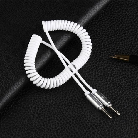 Earldom Stereo Audio jack 3.5mm to 3.5mm Male to Male Line In Car Aux Cable White