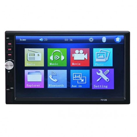 7012B Bluetooth V2.0 Car Video Player 7 inch Touch Screen Auto Audio Stereo MP5 Player Car DVD Player