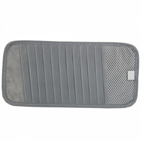 Car Visor CD Organizer Bag Holder for 12 Pieces CD Gray
