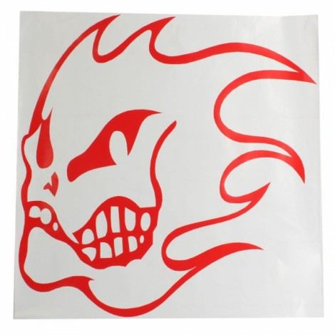 Fashion Design PVC Reflective Car Decal Sticker Red XJ-014