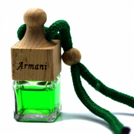 Cologne Scent Wine Bottle Style Car Ornament Perfume Air Freshener Cyan