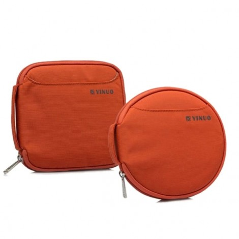 32-Sheet Portable Waterproof Oxford Fabric Disc CD DVD VCD Wallet Storage Organizer Holder Bag Orange