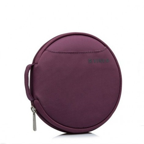 32-Sheet Portable Waterproof Oxford Fabric Disc CD DVD VCD Wallet Storage Organizer Holder Bag Purple