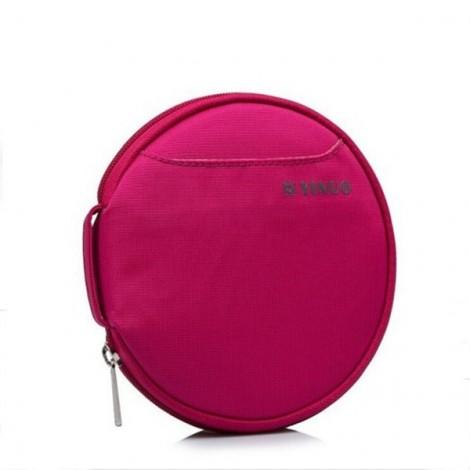 32-Sheet Portable Waterproof Oxford Fabric Disc CD DVD VCD Wallet Storage Organizer Holder Bag Rose Red