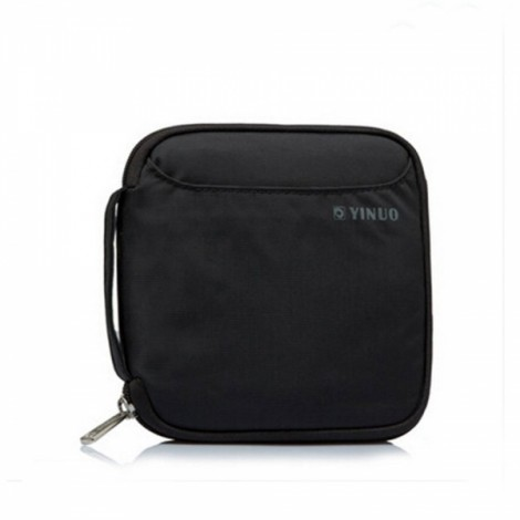 32-Sheet Portable Waterproof Square Oxford Fabric Disc CD DVD VCD Wallet Storage Organizer Holder Bag Black