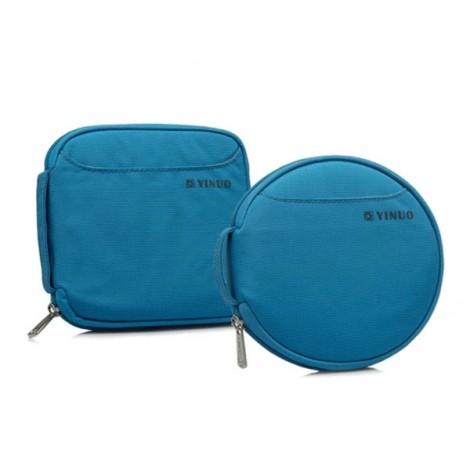 32-Sheet Portable Waterproof Oxford Fabric Disc CD DVD VCD Wallet Storage Organizer Holder Bag Blue