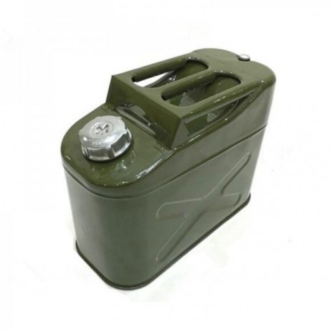 10L Iron Cap 0.8mm Cold-rolled Steel Petrol Diesel Can Gasoline Bucket Square Fuel Tank 3 Handles with Deflation Valve