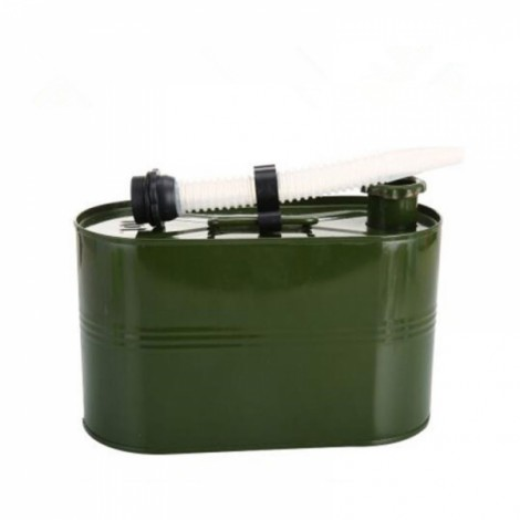 5L 0.6mm Cold-rolled Steel Petrol Diesel Can Gasoline Bucket Spare Oil Tank with Rebar Handle & Oil Pipe