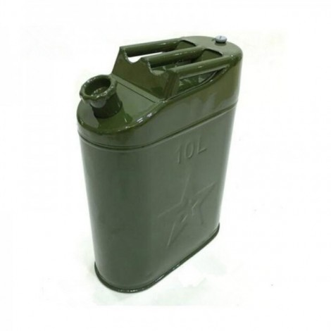 10L Iron Cap 0.6mm Cold-rolled Steel Petrol Diesel Can Gasoline Bucket Spare Fuel Tank 3 Handles with Deflation Valve