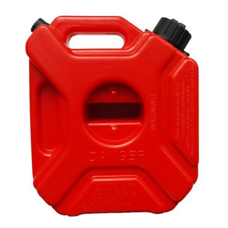 LONG-HAUL 3L Anti-static Spare Jugs Gasoline Oil Container Petrol Fuel Tank Can for Motorcycle Red