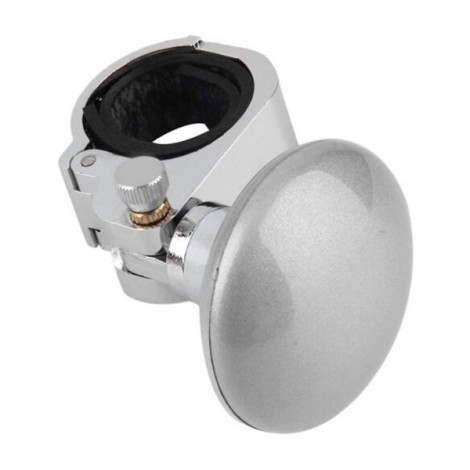 Car Steering Wheel Knob Auxiliary Booster Control Handle Ball Silver