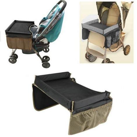 Portable Baby Kids Safety Car Seat Stroller Tray Play Travel Drawing Board Black