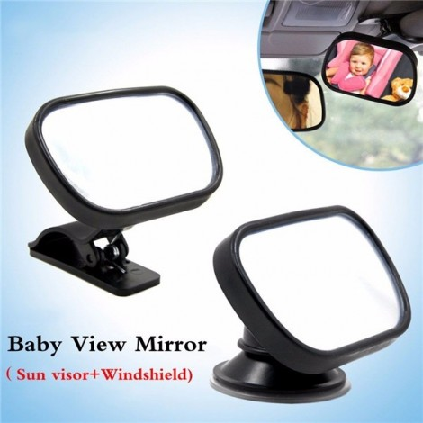 Tirol Mini Adjustable Car Baby View Mirror Car Rear Baby Safety Convex Mirror