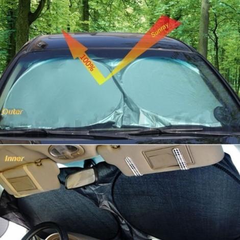 150 x 70 Car Use Ultra Sun Block Car Sunshade Shield Protector Silver